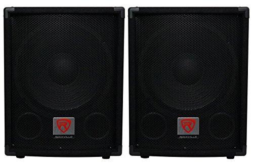 "2) Rockville SBG1124 12"" 600 Watt Passive 4-Ohm Pro DJ Subwoofers,MDF/Pole Mount"