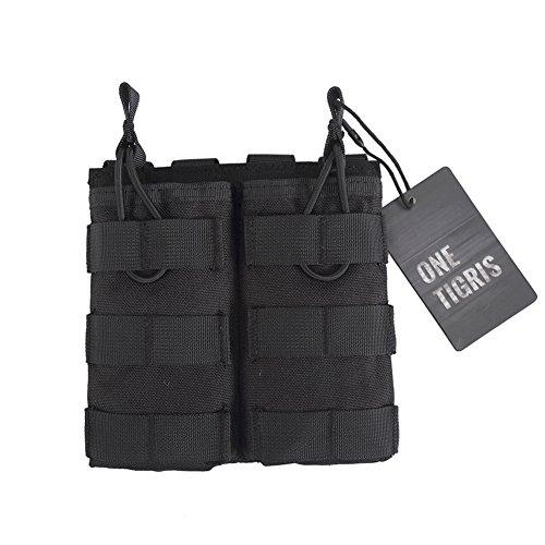 OneTigris Doppelt MOLLE AR Magazintasche Nylon Magazinbeutel für M4/M16 (Schwarz)