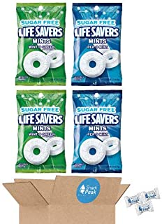 Life Savers Sugar Free Variety Gift Box – Wint O Green and Pep O Mint (2 - 2.75 oz packages of each)