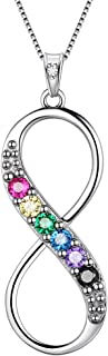 LGBT Necklace Women 925 Sterling Silver Gay Pride Pendant Rainbow Jewelry