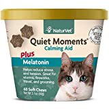 NaturVet –Quiet Moments Calming Aid for Cats Plus Melatonin – 60 Soft Chews – Helps Reduce...