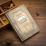 Bloc de notas de tapa dura, diario, cuaderno de reuniones, para viajeros, planificador creativo, vintage, para escribir notas