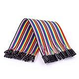 AZDelivery Jumper Wire cables de Puente 40 piezas F2F pines hembra hembra compatible con Raspberry Pi Breadboard