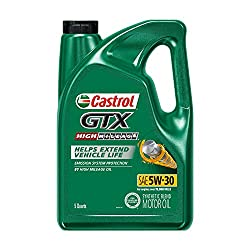 Castrol 03102 GTX High Mileage 5W-30 Synthetic Blend Motor Oil