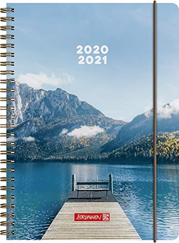 """BRUNNEN 1072150181 """"Steg"""", Wochenkalender/Schülerkalender 2020/2021, 2 Seiten = 1 Woche , Blattgröße 14,8 x 21 cm , A5 , PP-Einband"""