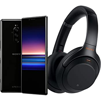 Sony Xperia 1 Unlocked Smartphone and WH1000XM3 Wireless Noise Cancelling Heaphones, with Noise Cancelling Wireless Headphones, One Size (J8170US/BWH)