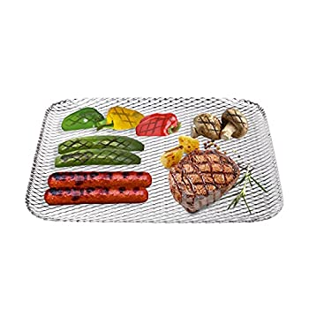 Foilman Grill Toppers - Clean Grill BBQ Disposable Toppers- 16 x 12Inch -  10 Pack  -Your Hot Dogs Will Never Fall Through The Cracks Again