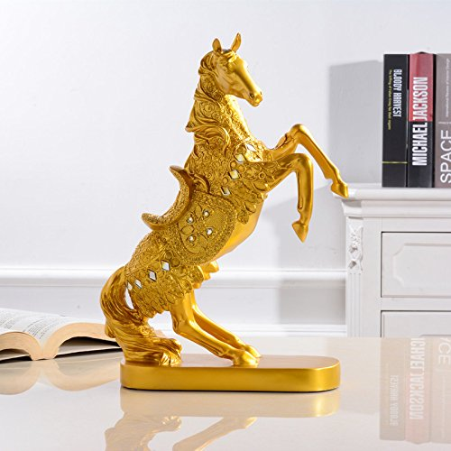 Ambachten hoog te paard,wit goud en diamanten Steigerend Paard