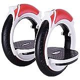 SHENGHUI Whirlwind - Rodillo antideslizante para adultos al aire libre con 2 ruedas para monopatín, pedal de alta velocidad Drift Skate Board Balance Roller para niños (color rojo)