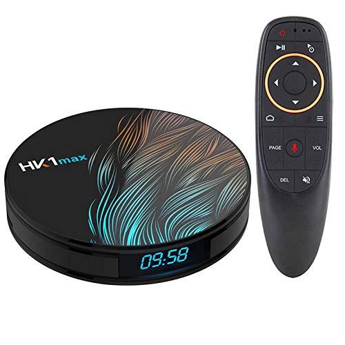 Smart Android 10.0 TV Caja De TV 4GB RAM 64GB HK1 MAX ROCKCHIP USB3.0 1080P H.265 4K 60FPS DUAL WIFI Control De Voz De Google HK1max(Color:2GB+16GB)