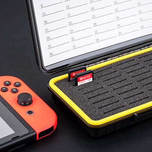 Kiwifotos Wasserdicht Speicherkarten Etui Aufbewahrung für 40 SD SDXC SDHC, SD Karten Tasche Hülle Schutzbox Tragetasche - Memory Card Case Box