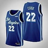 Camiseta de Baloncesto para Hombre NBA Los Angeles Lakers 22# Quinn Cook Cómodo/Ligero/Transpirable Malla Bordada Swing Swing Sworing Sweatshirt,XXL