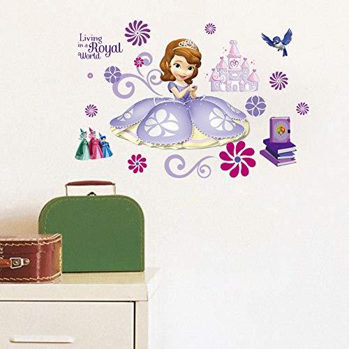 Kibi Wandtattoo Kinderzimmer Prinzessin Disney Sofia Wandsticker Prinzessin Sofia Die Erste Wandaufkleber Kinderzimmer Wandsticker Babyzimmer Dekorative kunst