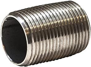 Stainless Steel Pipe Nipple, Welded, Type 316/L, Schedule 40, 1/8