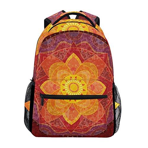 TIZORAX Hippie Mandala Yoga Psychedelic Rucksack Schultasche Büchertasche Wandern Reisen Rucksack