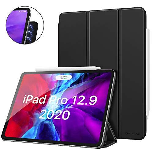 MoKo Hülle Kompatibel mit iPad Pro 12.9 4. Generation 2020/2018, Schlanke Schutzhülle Magnetisch Befestigung & Ladung, Auto Schlaf/Aufwach Funktion für iPad Pro 12.9 2020/2018 - Schwarz