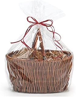 Extra Large Jumbo Cellophane Bags Gift Basket- 30 x 40 Inch with Gift Tags -