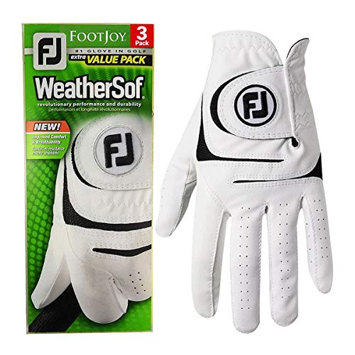 Footjoy WeatherSof® MENS ALL WEATHER GOLF GLOVES MULTIBUY X 3 GLOVE...