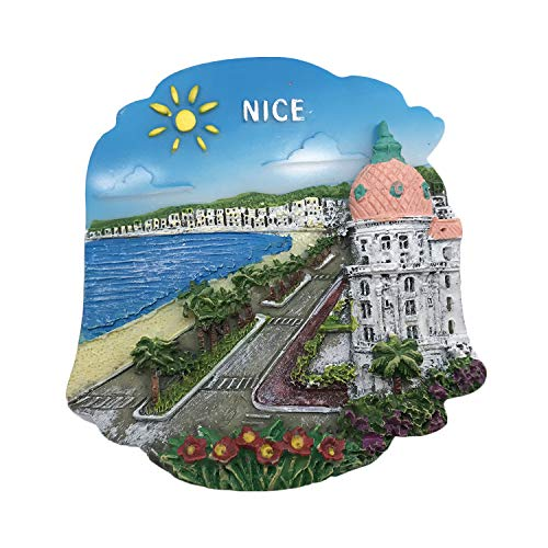 3D Nizza Frankreich Kühlschrank Kühlschrankmagnet Tourist Souvenirs Handarbeit Harz Handwerk Magnetischen Aufkleber Home Küche Dekoration Reise Geschenk