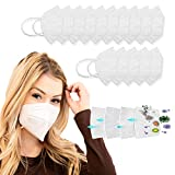 BreathPur Disposable Adult Protective Face Covering – Unisex 15 Pack – 4 Ply PM2.5 Filters Adjustable Protection Shields - Fitting Design – Foldable
