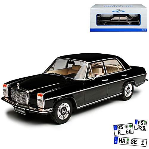 Model Car Group Mercedes-Benz 220 /8 Strich-Acht Limousine Schwarz W114 1967-1976 1/18 Modell Auto