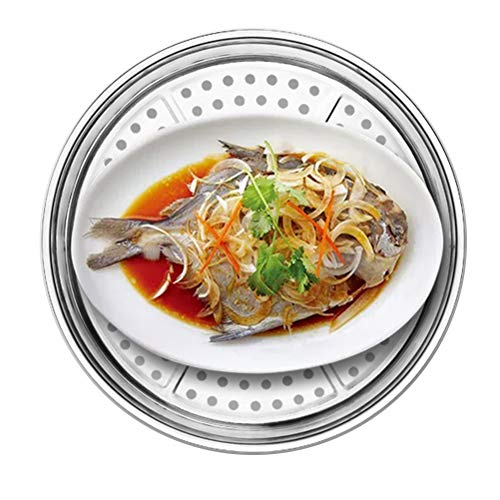 Universal Dampfgarer aus Edelstahl, Gemüse Dampfgarer eignet sich gut für Asien Produkte wie Knödel und gesundheitsorientierte Dampfgarer,28cm