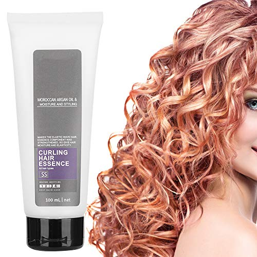 Hair Conditioner Curl Enhancer, Moisture and Protect Hair Curl Defining Cream Anti Frizz Hair Elastin Hair Volumizing Gel Styling Cream for Curly and Wavy Hair(100ML)