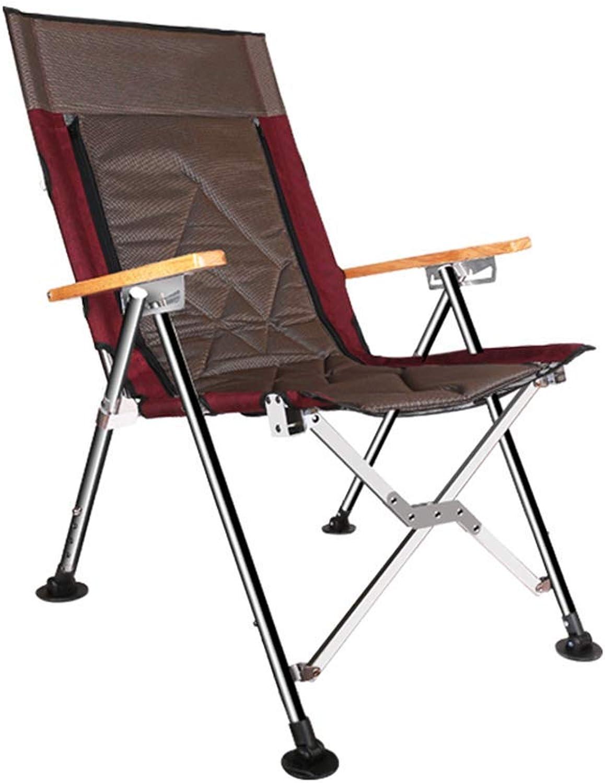 CCDZDM Camping & Wandern Angeln Stuhl Edelstahl Multifunktions-Outdoor-Stuhl Bequem Liegen Strandkorb All-Terrain Einstellbare Rückenlehne Tragkraft 120Kg