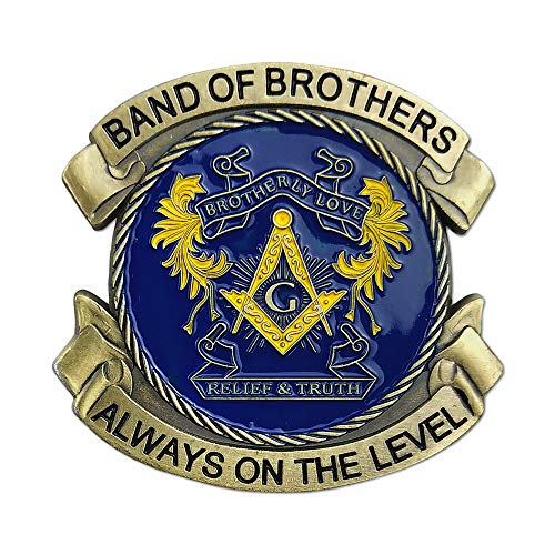 Masonic Coin Blue Lodge Master Mason Freemasonry Collectible Gift - Brotherly Love