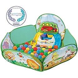 VTech-VTech-506205-Pop Piscine à Balles Interactive, 80-506205, Multicolore, Taille Unique - Version FR