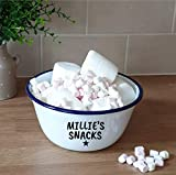 image of a cute retro personalised snack bowl one of our picks of a present for a 12 year old in our christmas gift guide 2021