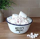 Large Personalised Snacks Bowl Large Named Popcorn Crisps Entertainment Named Bowl Dish Entertaining