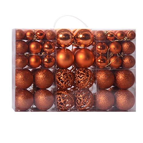 DASNTERED - 100 ciondoli a forma di palla per albero di Natale, decorazioni per albero di Natale, decorazioni per albero di Natale, per feste di nozze, decorazione (bronzo)
