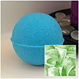 The Sugar Shak Collection Luxurious C-Note Bath Bomb 7 oz Baseball Size (Blueberry Muffin) / Handmade/Bath Fizzie/Surprise Money Bath Bomb/Surprise Gift For Her