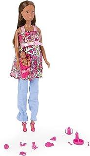Smoby Love Mini Steffi Doll, 105734000ETS, brązowo-brązowe włosy, 29 cm
