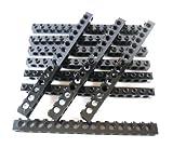 LEGO®Technic 10unidades Piedra 1x 16grano con agujeros en negro.