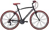 Adriatica - Bicicleta híbrida Boxter RT de hombre con cuadro de aluminio, ruedas de 28 pulgadas, cambios Shimano de 21velocidades, Hombre, negro mate, 55