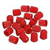 Ndier Tappi antipolvere in plastica colorati per valvole dei pneumatici, per auto, moto, passeggini, bici e bicicletta, 50 pezzi, colore: rosso