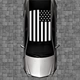 Sign Factory R54 Black American Flag Roof Wrap - Decal Decals Wraps Vinyl Wraps Art Poster Image Carbon Hood Car Truck Fiber Hood