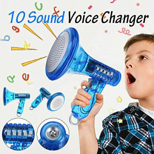 Adoture Sprachwechsler Roboter Megaphon Verstärker 10 Soundeffekte LED Kinder Spielzeug