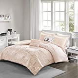 Intelligent Design Zoey Comforter Set Bedding, Twin/TwinXL, Blush/Rosegold