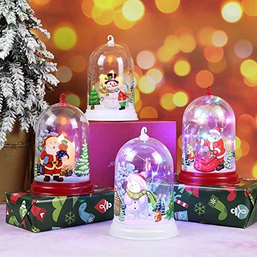 strimusimak Cute Santa Claus Snowman LED Night Light Christmas Home Decor Display Mold Gift Decoration Light for Bedroom Santa Claus A