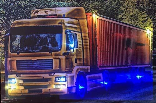 Samarkand-Lights LED-Bild mit Beleuchtung LED- Bilder Leinwandbild 65 x 45 cm Leuchtbild Truck/LKW Wandbild