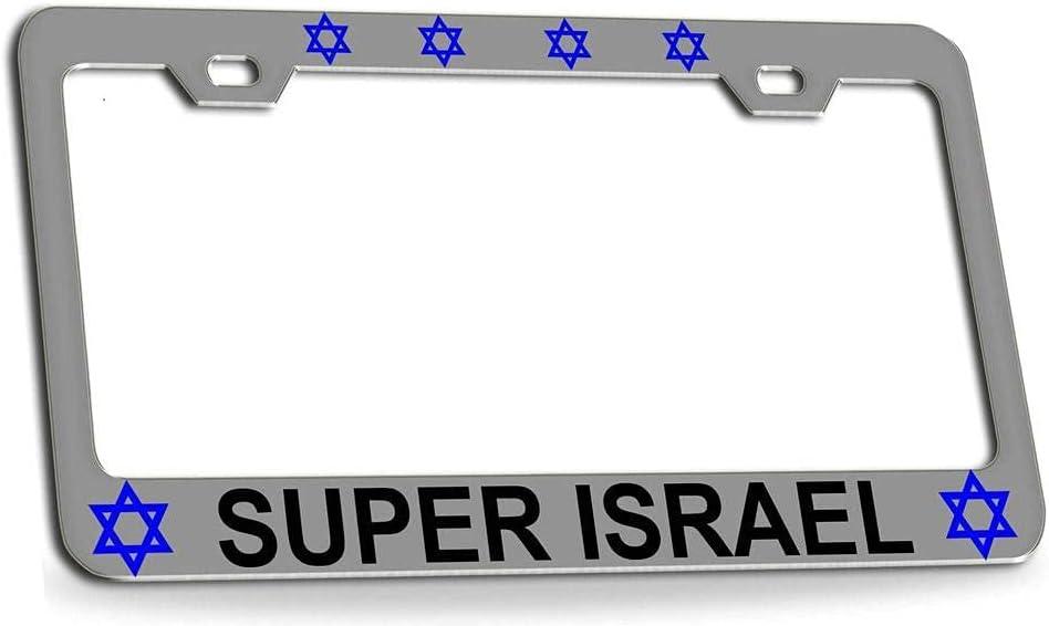 Indefinitely DKISEE Super Israel Jewish License NEW Frame 12 X Plate 1PCS