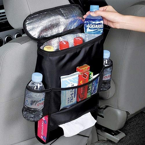 Mflbefulmel Durable Car Back Seat Organizer Waterproof Seat Covers Car Seatback Multi-pocket Travel Storage Pocket Cup Holder Toy Storage Bag Car Seat Attachable Storage Random