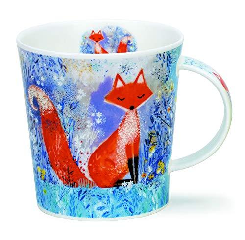 LO-MYSW-FO Fox Mystic - Taza de porcelana (0,32 L), diseño de zorro místico