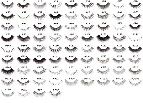 """10 Pairs of Red Cherry 100% Human Hair False Eyelashes """"Pick Your Choice of any 10 Pairs"""" - Mighty Gadget"""
