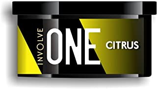 Involve Your Senses ONE Citrus Fragrance Organic Car Perfume | Refresh Your Car with Powerful Involve Your Senses Your Senses Fiber Air Freshener - IONE02