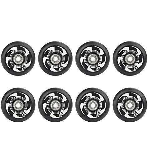 MY1MEY Single Wheel Sneaker Schuhe 8 STK, Inline Skate Wheels 90A 72Mm 76Mm 80Mm Inline Skates Ersatzrad mit ABEC-9 Lagern,Outdoor-Ersatz-PU-Rad(White72mm)