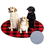 KOOLTAIL Washable Pee Pads for Dogs 2 Pack - Non-Slip Round Plaid Puppy Potty Pad for Dog Playpen, Reusable Whelping Training Pads